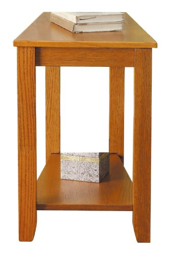 Homelegance Elwell Wedged Chairside Table Table, Oak