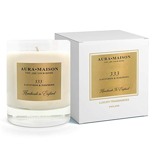 Aura Maison Scented Candle 30cl - Lavender & Oakmoss - Relaxing Scent With...