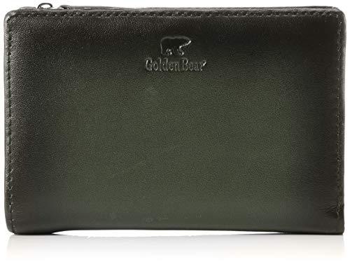 [ゴールデンベア] 深みのあるシャドー仕上げ 折り財布 カード16枚収納 キーホルダー付 GBMW9HS4 グリーン