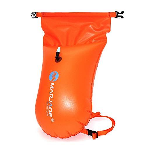 advancethy Outdoor Schwimm-Rucksack für Bojen, Schwimmen, lebensrettend, schwimmend, offenes Wasser, 20 l, Aufbewahrungsmöglichkeit für Kajakfahrer, gut sichtbare Boje, sicheres Schwimmtraining