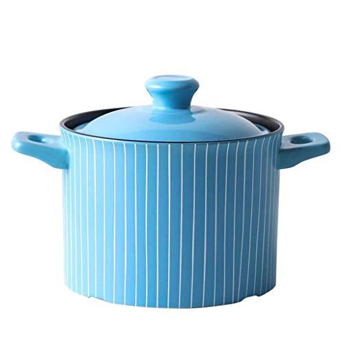 DYXYH Cacerola de cerámica, Utensilios de Cocina de Cocina con Tapa de cerámica de la Leche Pan Pan Guiso cazuela Sopa de Olla Multifuncional