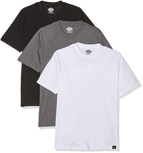 Dickies Dickies Pack, T-shirt Short Sleeve Uomo, Multicolore (Assorted Colour AS), Large (Pacco da 3)