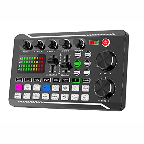 Multifunctionele geluidskaart F998, microfoon audio mixer geluidskaart, professionele klinkende effecten, voor laptop…
