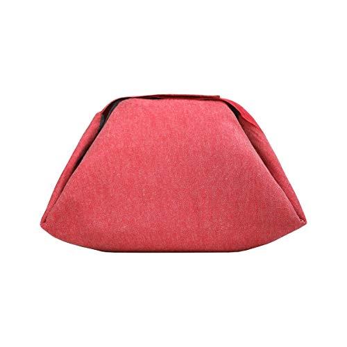 Roll'Eat - Eat'n'Out Mini, 13x17x4,5 cm | Sac Repas, Déjeuner & Set de Table (2 en 1) Écologique - Sac Pique nic Isotherme, Pliable - sans Motif - Couleur Rouge