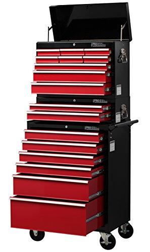 Hilka Tools HDPX17 HD Pro 17 - Cajón combinado, color rojo y negro