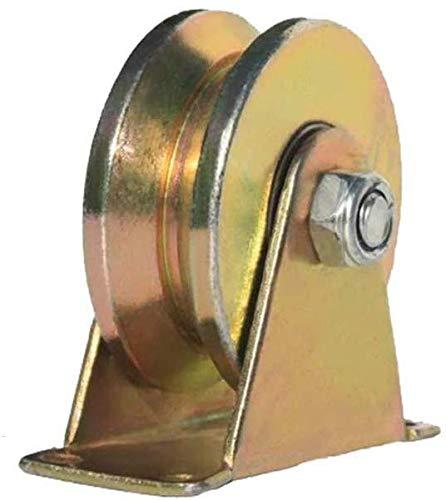Stijve V-Groove Roller Schuifhek Roller met Beugel Heavy Duty Rollers voor schuur Deuren 45-Gat Staal Schuifhek Accessoires voor poort Frames trolleys voor Industriële Machines Draad ca 100 mm.