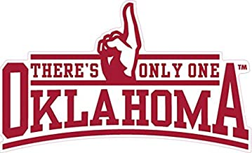 16 Inch OU University of Oklahoma Sooners Logo Removable Wall Decal Sticker Art NCAA Home Room Decor 16.5 by 3 Inches