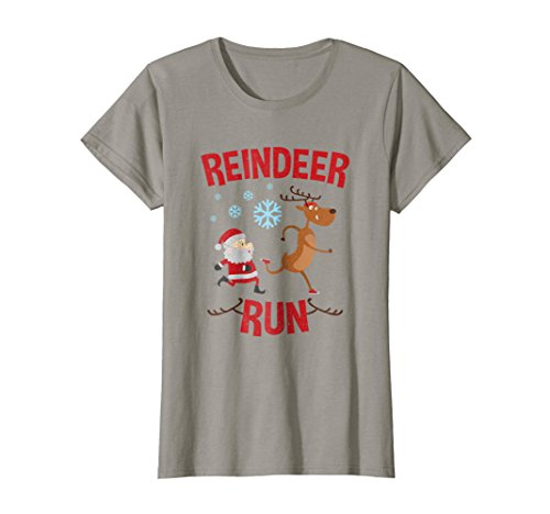 Womens Reindeer Run Christmas Running T Shirt