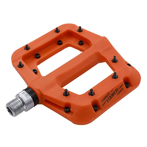 FOOKER MTB Pedals Mountain Bike Pedals 3 Bearing Non-Slip Lightweight Nylon Fiber Bicycle Platform Pedals for BMX MTB 9/16'