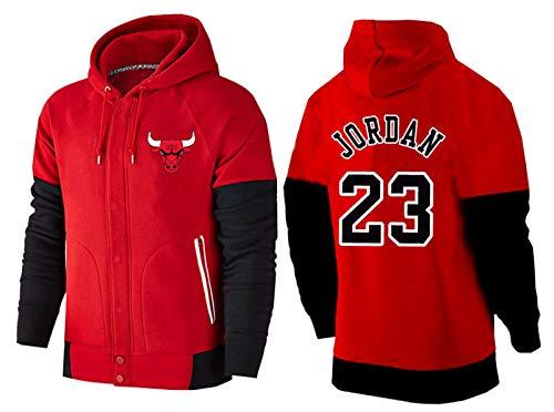 MMQQL Baloncesto Jersey Uniforme Hombres Chaqueta con Capucha Jordan Chicago Bulls # All-Star Apariencia Ropa Ventilador Formación Jerseys para Los Adolescentes Boy Hombres,XL