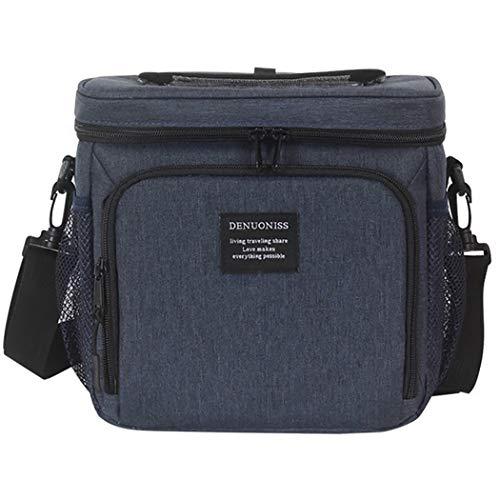 Bageek Lunch Bag Creatieve Geïsoleerde Grote Capaciteit Bento Handtas Koeler Tote voor School marineblauw