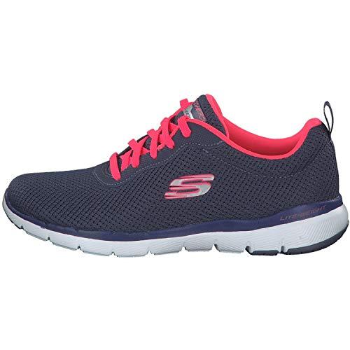 Skechers Flex Appeal 3.0-First Insight, Zapatillas Mujer, Varios Colores (Sltp Black Mesh/Trim), 40 EU