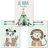 artpin® 3er-Set Poster Kunstdruck für Kinder, von
