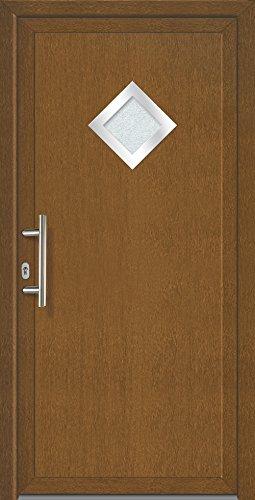 Nebeneingangstür & Mehrzwecktür (Golden Oak, NEU, PVC, braun, alles inklusive)