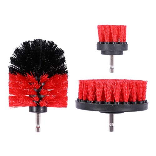 iplusmile 3個 電動掃除用ブラシ アタッチメントキット 耐久性 風呂掃除 多機能 浴室掃除 パワー スクラバーブラシ 隅々まで ドリル