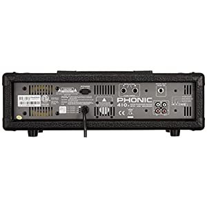 Phonic POWERPOD 410 R 4-Channel Powered Mixer with Variable Delay, Built-in 100W (at 4 ohms) Single Channel Output Power, 4 Mic/Line Input Channels, Variable Digital Delay with Time and Repeat Control