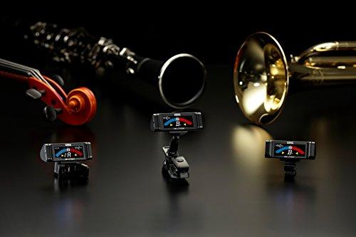 KORG100時間連続駆動管弦楽器用クリップチューナーAW-LT100Mカラー表示単4電池1本軽量コンパクト