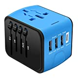 Universal Travel Adapter, Cre-Heaven Travel Power Adaptor Worldwide, All in One Travel Charger
