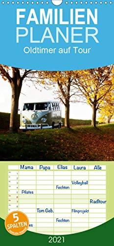 Oldtimer auf Tour - Familienplaner hoch (Wandkalender 2021 , 21 cm x 45 cm, hoch): Oldtimer auf Tour und in der Natur (Monatskalender, 14 Seiten ) (CALVENDO Mobilitaet)