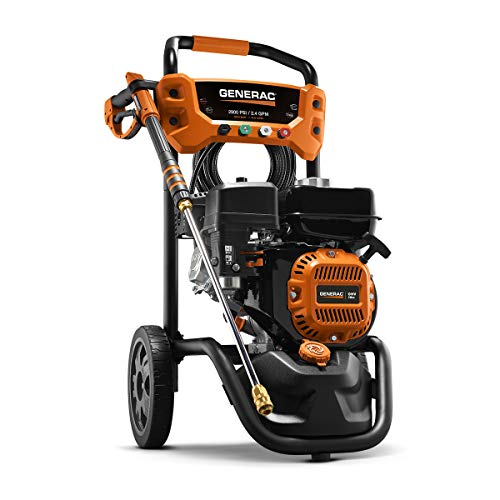 Generac 7954 Pressure Washer 2900PSI, One Size, Black, Orange