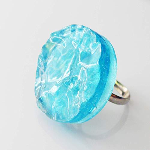 Ring mit Wasser Motiv Meer/Statement Ring kleiner Pool