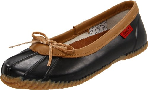 Chooka Women's Waterproof Comfort Ballet Flat, Black, 9 M US