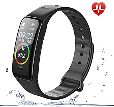 weijie Fitness Tracker, Activity Tracker Watch with Heart Rate Monitor Waterproof Smart Fitness Band with Step,Calorie Counter Sleep Monitor, Pedometer Watch for Kids Women and Men
