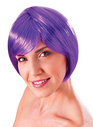 Bristol Novelty BW859 Flirty flick-pruik, blond, eenheidsmaat Violet Eén maat Neon Violet