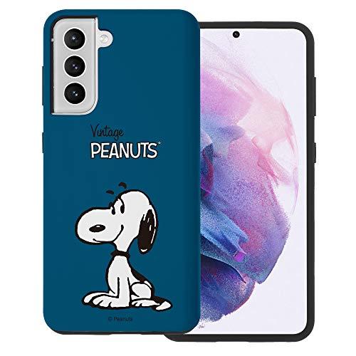 """Galaxy S21 ケース と互換性があります Peanuts Snoopy ピーナッツ スヌーピー ダブル バンパー ケース デュアルレイヤー 【 ギャラクシー S21 ケース (6.2"""") 】 (シンプル スヌーピー) [並行輸入品]"""