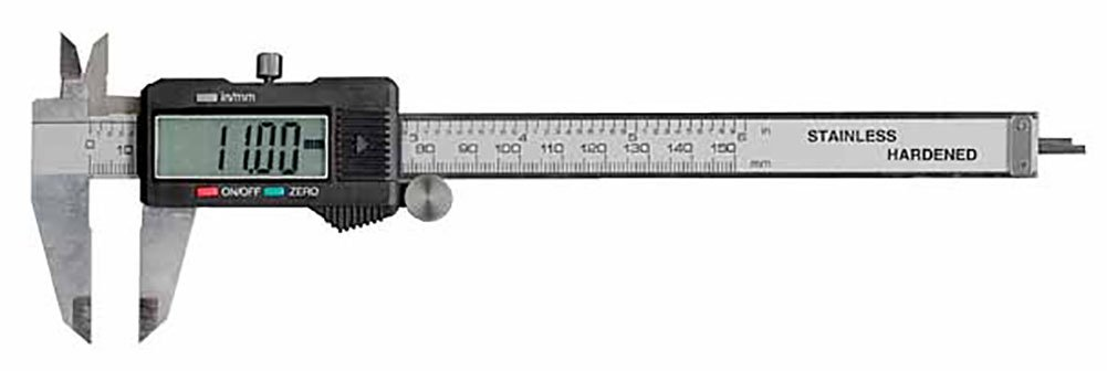 Electronix Express 0604cal6 Lcd Digital Caliper With Extra Battery And Case 6 Amazon Com Industrial Scientific