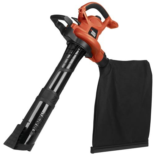 BLACK+DECKER (BV6600) 3-in-1 Electric Leaf Blower, Leaf Vacuum, Mulcher, 12-Amp