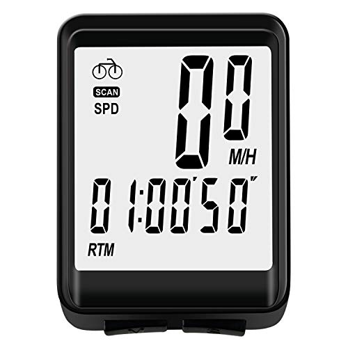 cheap Nellvita NWP-8 Cycle Computer, Wireless Cycle Computer Bicycle Speedometer Bicycle Odometer, Automatic Wake Up with Speed ​​and Distance Measurement