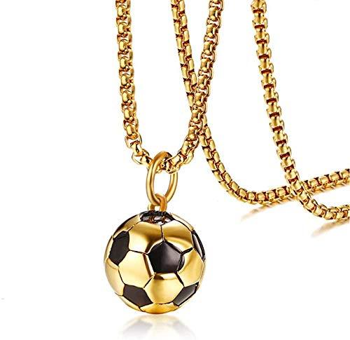 niuziyanfa Co.,ltd Deportes fútbol Colgante Hombres Collar Acero Inoxidable fútbol campeón Hombres joyería Accesorio Caja Cadena