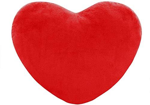 Plüsch-Kissen in Herz-Form Rot, 40*40CM Herzkissen Kuschelkissen Plüsch Dekokissen Herzform für Kinder, Mädchen, Sofa, Schlafzimmer, Autos , Home Decor
