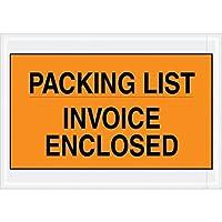 Top Pack Supply Tape LogicPacking List/Invoice Enclosed Envelopes 7 x 10 Orange (Pack of 1000) [並行輸入品]