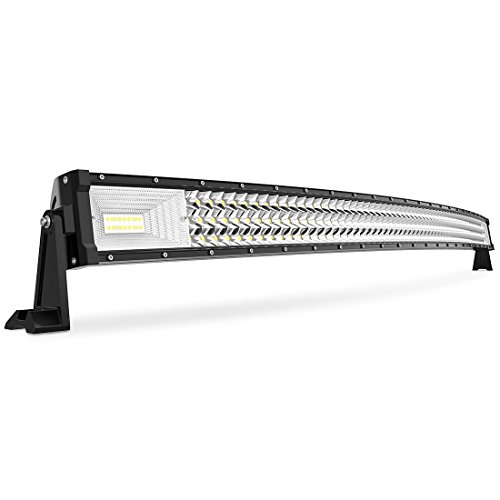 """AUTOSAVER88 50"""" Curved LED Light Bar Triple Row, Brighter 7D 648W 64800LM Off Road Driving Light No-Foggy Lens for Jeep Trucks Boats ATV Cars, 3 Years Warranty"""