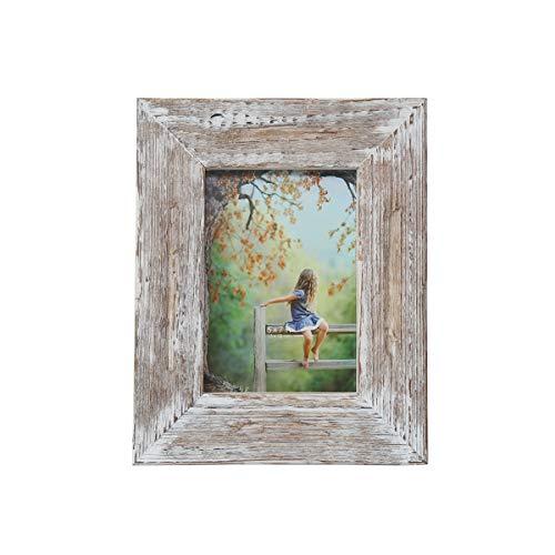 OuXean Cornice in legno 13x18 cm, aspetto rovere rustico, massello naturale con pannello in PVC, inclusi accessori Cornice per foto (1 pezzo)