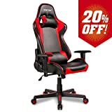 Merax Gaming Chair Computer Game Desk Chair Racing Style Comfy Office Chair Ergonomic