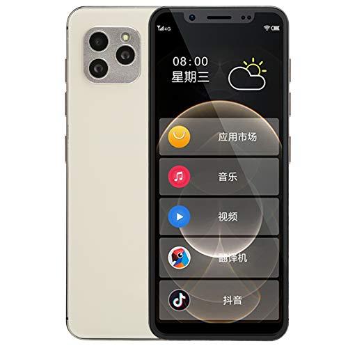 S11S Dual SIM Full Netcom Smartphone de Color Dorado, Teléfono Inteligente Multifuncional para Personas Mayores, 2200 mAh Batería Incorporada Teléfono Móvil, Regalo para Niños(2+16GB)