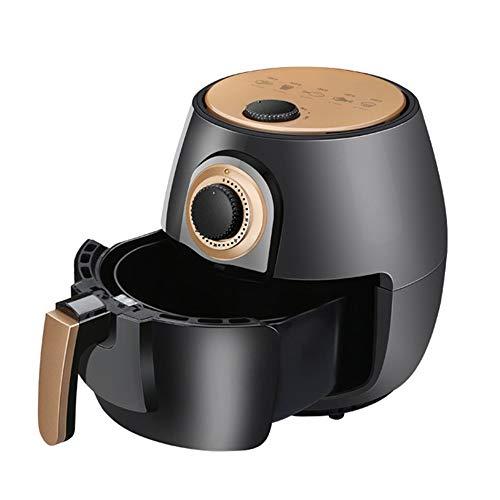 Freidora de Aire Aire freidora 4L Capacidad Sana Comida frita Incluye Hornear Set y Libro de Recetas Reemplace la Freidora (Color : Black, Size : 26x30x26cm)
