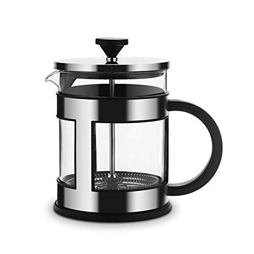 Vobajf Caffettiere a pistone Ispessita tè e caffè in Acciaio Inox Filtro Metodo Press Pot Stile Europeo a Mano Coffee Pot cafetieres (Colore : Stainless Steel, Size : 1000ml)