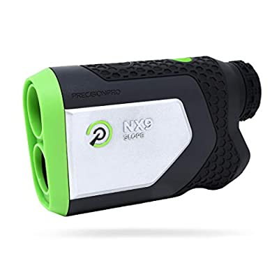 Precision Pro Golf, NX9 HD Slope Golf Rangefinder, Laser Golf Rangefinder with Magnetic Cart Mount, Pulse Vibration, 400 Yard Range, 7X Magnification, Lifetime Battery Replacement Service