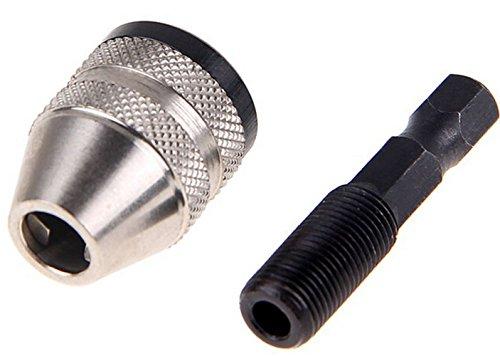 Malayas® Schnellspannbohrfutter Kohlenstoffstahl 1/4 Zoll Sechskantschaft Adapter Bohrfutter 0.3 – 6.35mm