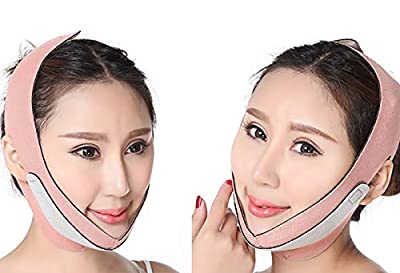 Face Slim Lifting Face Belt Reduce Wrinkles of Double Chin Shape V-Line Weight Loss for Face Bandage V Face Chin Cheek Lift Up Slimming Slim Ultra-thin Belt Strap Band (1pc, pink) from Kowth