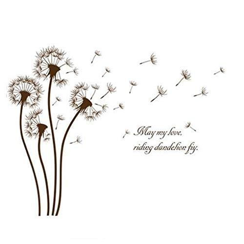 Dandelion Flowers Stickers muraux fond d'écran Home Decor bébé garçons filles enfants Chambre Décoration