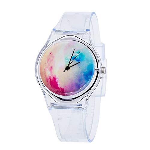Dxlta de Mujer Reloj Pulsera Plástico Dibujos Reloj Transparente Correa Estudiante Deporte Relojes Mujer Niña Casual Reloj de Cuarzo 9 Colores - 3