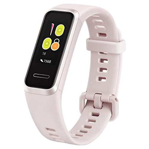 XuQinQin Pulsera de Deportes, Monitoreo Inteligente Pulsera del sueño monitorización de oxígeno de la Sangre saturación 5ATM 3 Colores a Prueba de Agua Opcional Reloj tecnológico (Color : Pink)