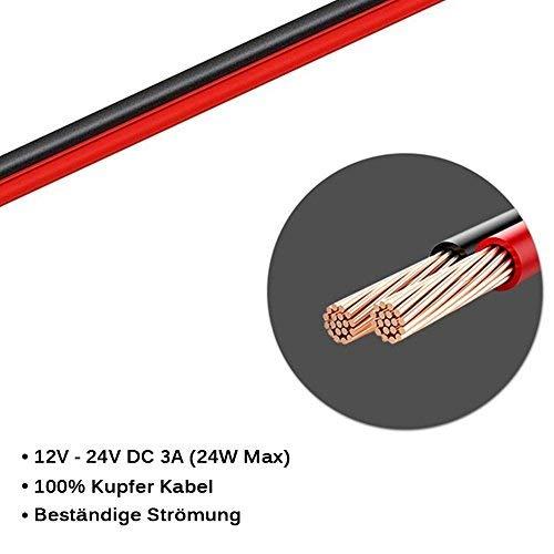 DOCA Zigarettenanzünder Stecker DC Autoladegerät Auto-Stromversorgungskabel, 12-24 V 4FT Zigarettenanzünder Stromversorgung Kordel 5,5mm x2,1mm/4,0mm x1,7mm Anschlusskabel