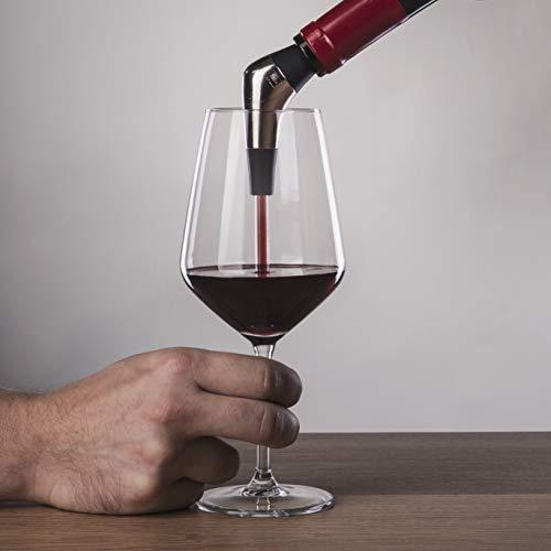 Vacu Vin Slow Pourer Weinausgießer, Kunststoff, Edelstahl, Silber, schwarz, s