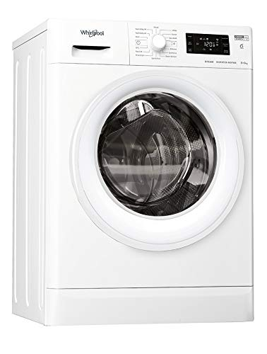 Whirlpool FWDG86148WUKN Freestanding Washer Dryer, 8/6kg, 1400 rpm, Wh